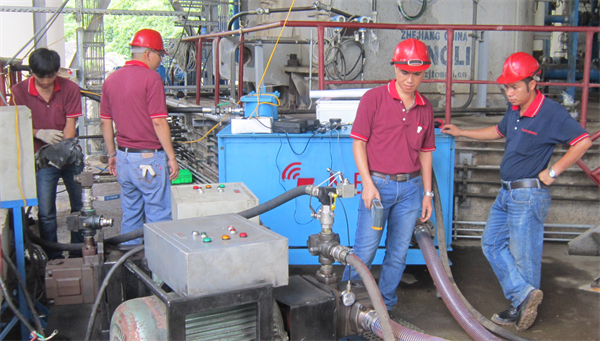 Súc rửa đường ống dầu máy nghiền đứng LOESCHE