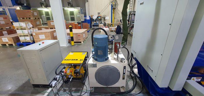 trạm nguồn cho máy kiểm tra chất lượng sản phẩm tự động
