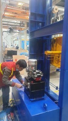 trạm nguồn của thiết bị thủy lực kẹp xoay sản phẩm